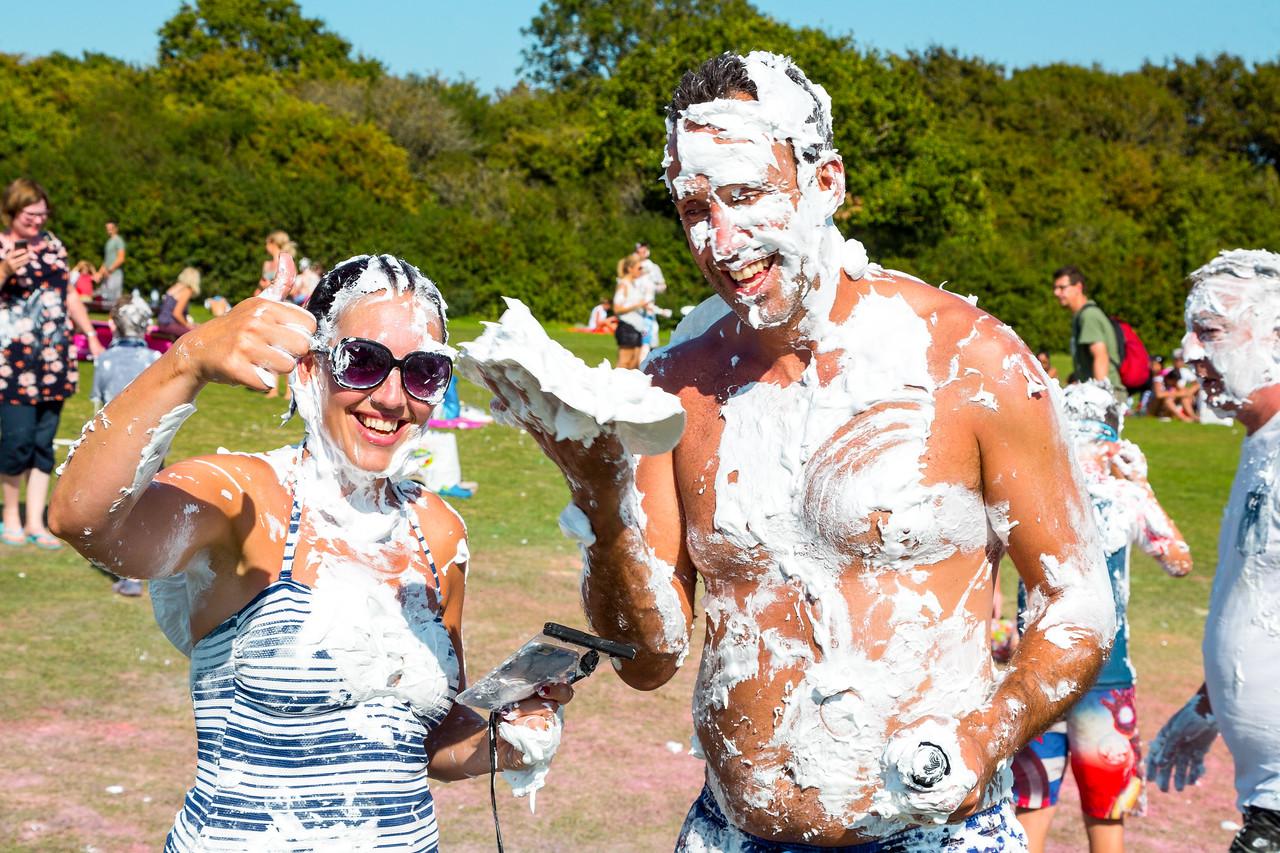 Cream Pie Fight 2021 at Sandy Balls