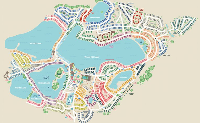 Tattershall Lakes map