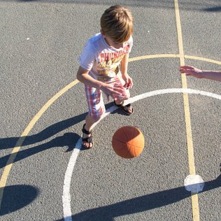 Outdoor sports court