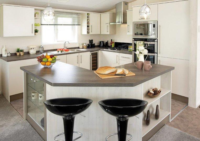 Clean and convenient kitchen area